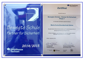 2015-09_Zertifikat Bewegte Schule_UK Sachsen
